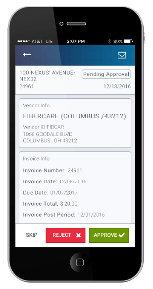 Mobile AP Automation Invoice Approval Nexus Systems - Paperless invoice approval system