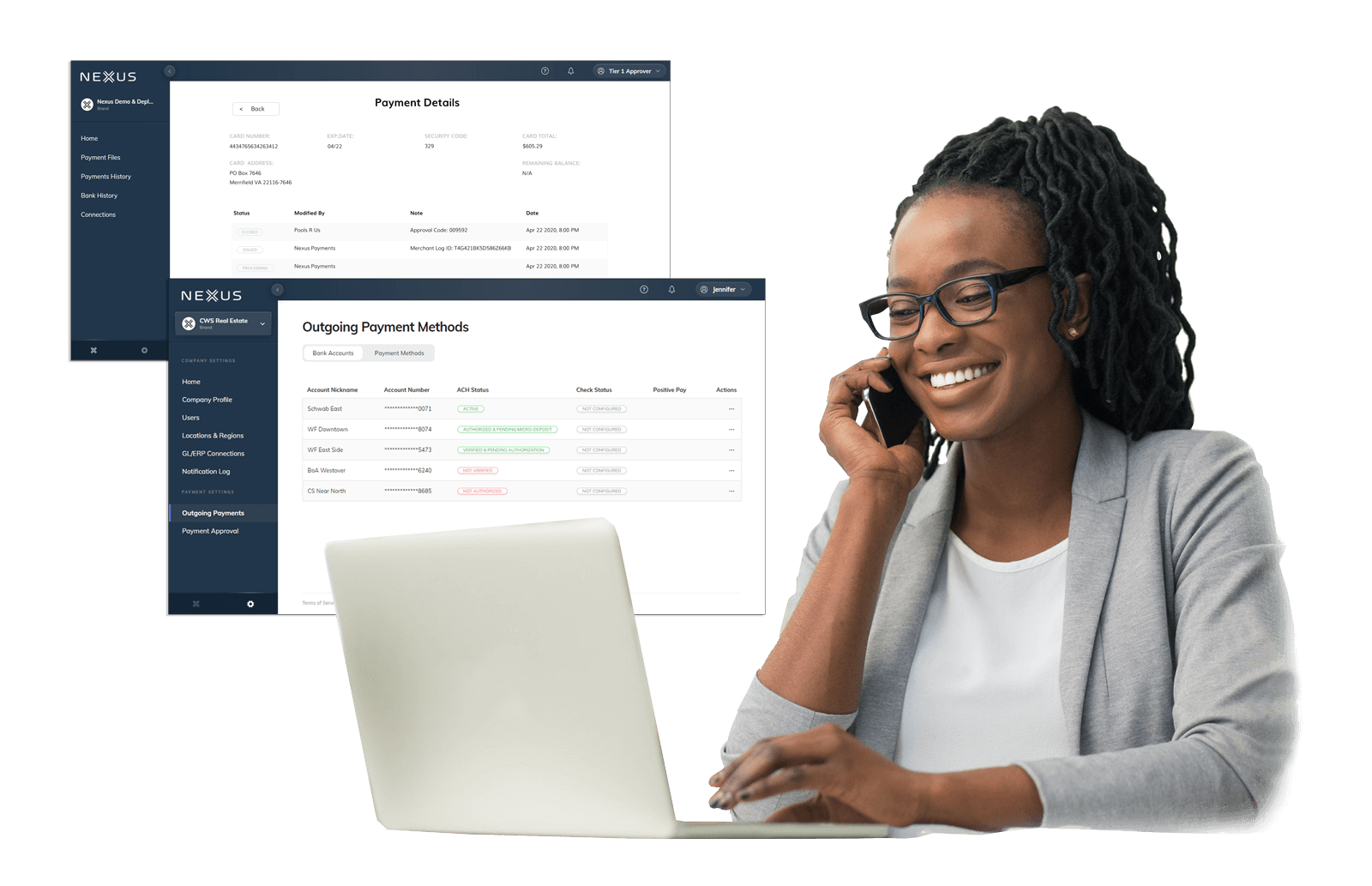 When you use Nexus Vendor Payments, just log in to NexusConnect to track all your transactions.